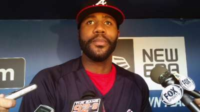 J-Hey glad to be with Braves during recovery