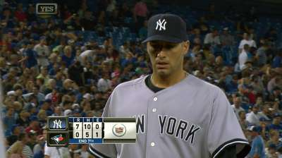 Pettitte, Soriano turn back clock in rout of Jays