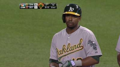 With little fanfare, Callaspo producing for A's