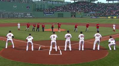 Collier's family throws out ceremonial first pitch
