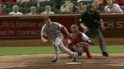 Heisey available after early exit on Sunday