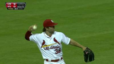 Kozma gets first taste of outfield since Rookie ball