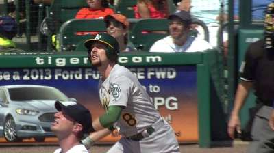 A's stunned as Balfour gives up four in ninth