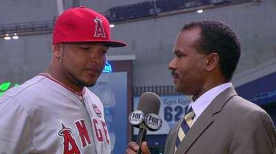 Jimenez returns to Angels on red-eye to replace Nelson