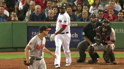 Papi's slump reaches 22 at-bats after hitless night