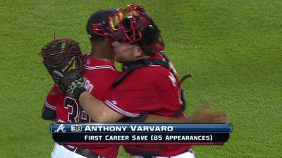 Varvaro downplays first save, gets game ball anyway