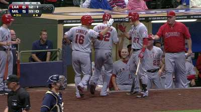 Conger's pinch-hit heroics lift Angels in ninth
