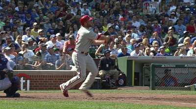 Kendrick struggles early as Phils fall to Cubs in finale