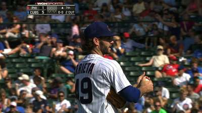 Arrieta, Cubs ride three-run fourth to take Phils series