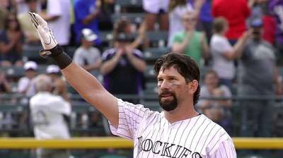 Helton doubles for hit No. 2,500
