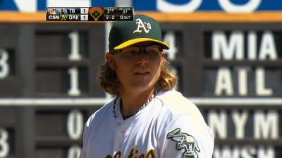 A's sweep Rays behind Griffin's strong outing