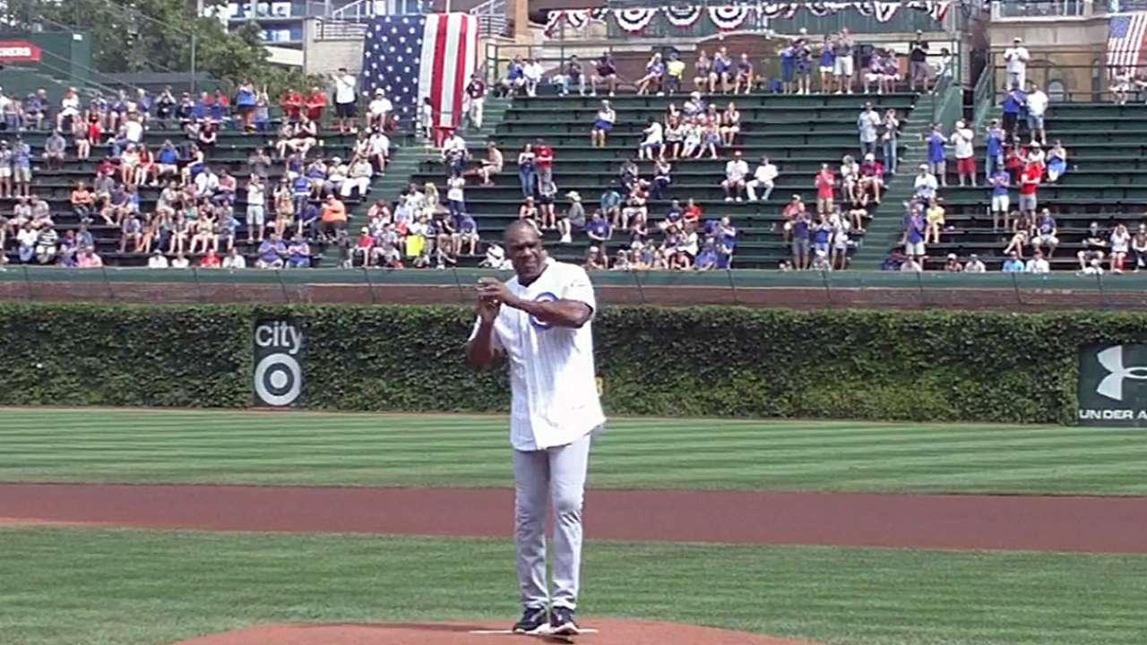 Dawson's first pitch