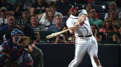 Gattis returns to Braves, belts game-tying homer
