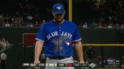 Toronto's rotation shuffle sends Redmond to 'pen