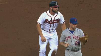 First steal snatched from Braves rookie Gattis