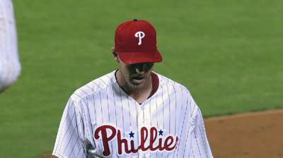 Phils push Halladay back, move up Lee