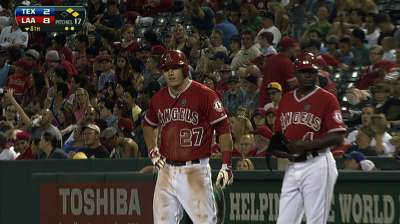 Mike drop: Trout delivers for BTS leader in final at-bat