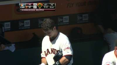 Posey back in action, plays first base