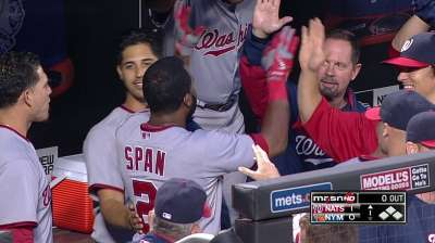 Span extends hit streak to 20 with leadoff homer