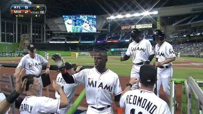 Alvarez bumped early as Marlins fall to Braves