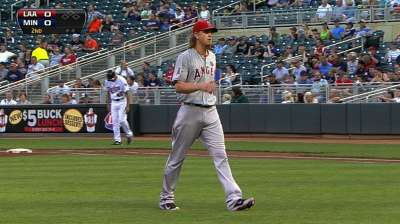 Angels drop makeup game against Twins