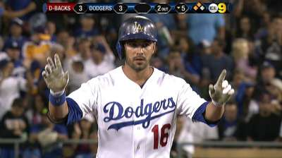 LA lists Ethier on NLDS roster, with Gordon to pinch-run