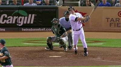 Willingham's home runs lift Twins, haunt A's