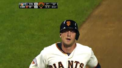 Pence's big night not enough for Giants