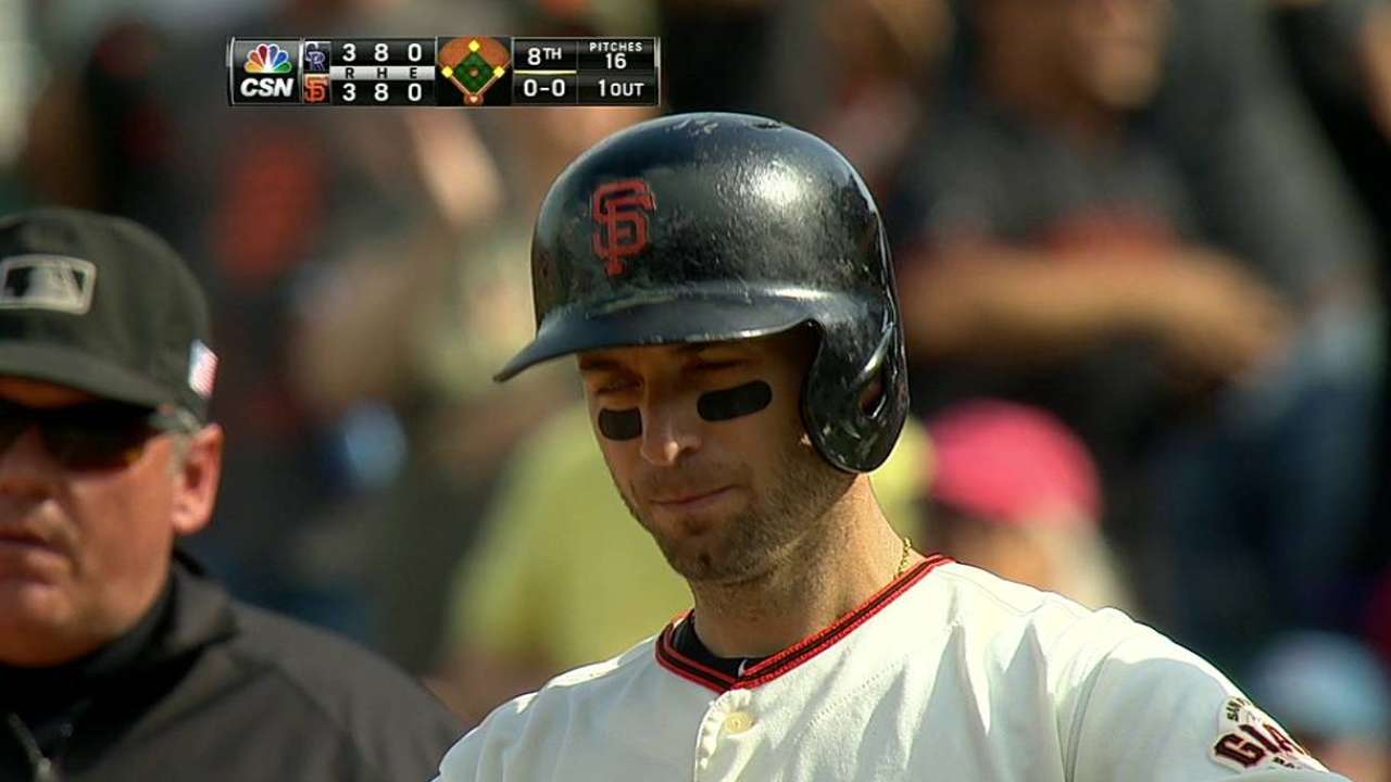 Giants hoping for spark as Scutaro comes off DL