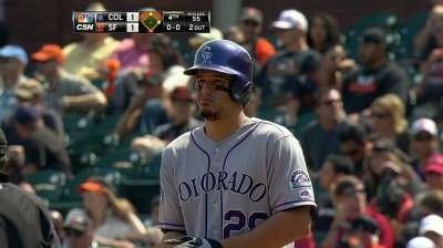 Arenado out of lineup after thumb injury