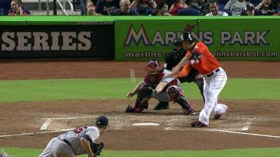 Stanton in favor of moving in Marlins Park fences