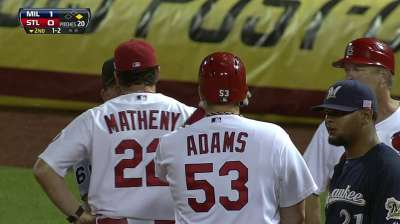 Adams, Cards make missed call a moot point