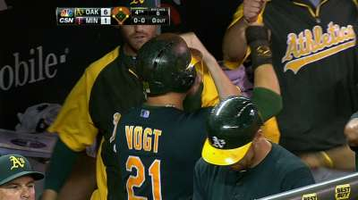 A's lead AL West by three games after routing Twins
