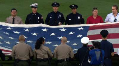 Dodgers, D-backs honor first responders