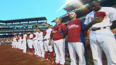 Phillies pay tribute on anniversary of 9/11