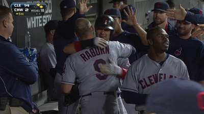 Raburn staying productive in limited role