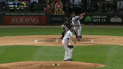 Tribe blasts White Sox to stay 1 1/2 behind Tampa Bay