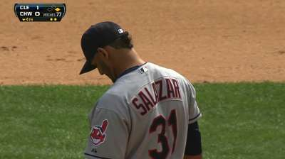 Salazar working to minimize pitches