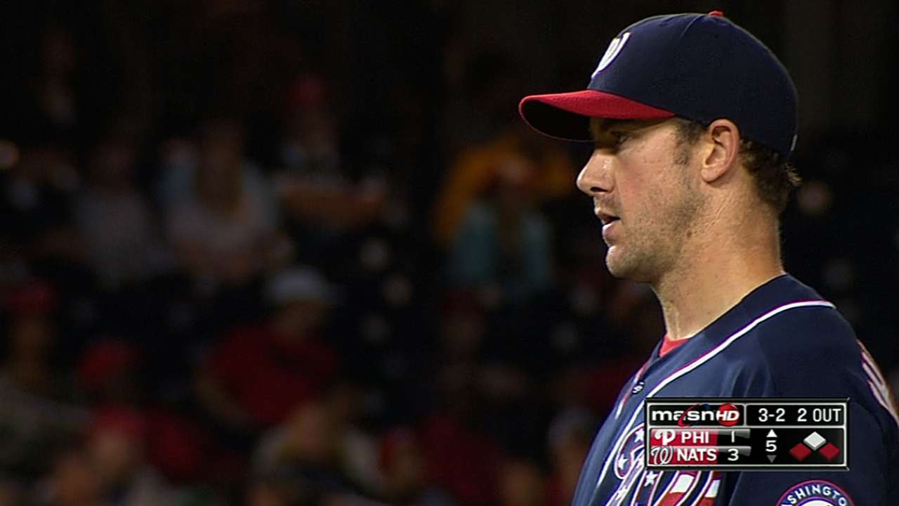Ohlendorf exits spring debut with back spasms
