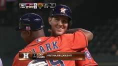 Clark's first career hit sparks Astros' big fifth in win