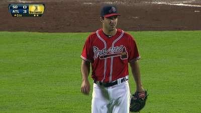 Hale excellent in debut, but Braves bullpen falls flat