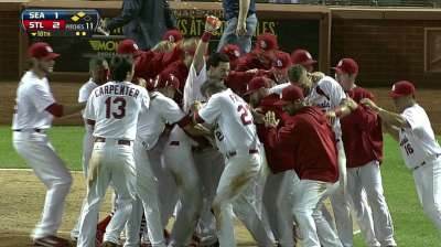 Cards back alone atop division with walk-off win