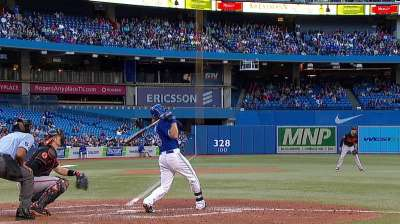 Rasmus' clutch homer lifts Blue Jays, knots series