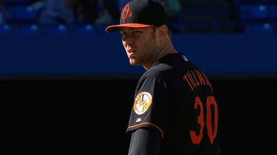 Ankle fine, Tillman set to face Blue Jays
