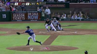 Oswalt drops to 0-6 as D-backs rout Rockies