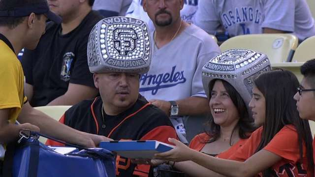 Championship Ring Hats Giants Fans Wearing Ring Hats