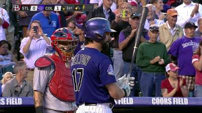 Helton's last homestand kicks off with a Rockies win