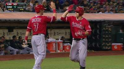 Halos rout division-leading A's behind Wilson
