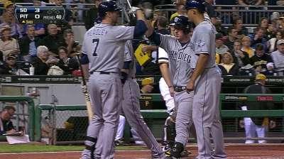Gyorko hits key blast as Padres top Pirates