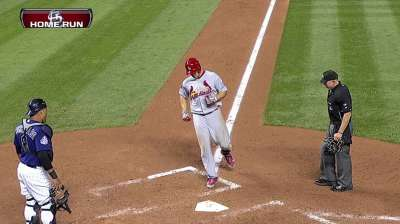 Holliday returns to lineup from back tightness